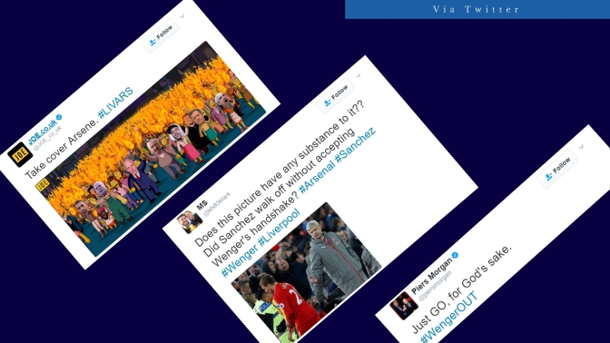 Twitter Reacts to Liverpool-Arsenal