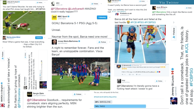 Twitter Reacts to Barcelona Comeback